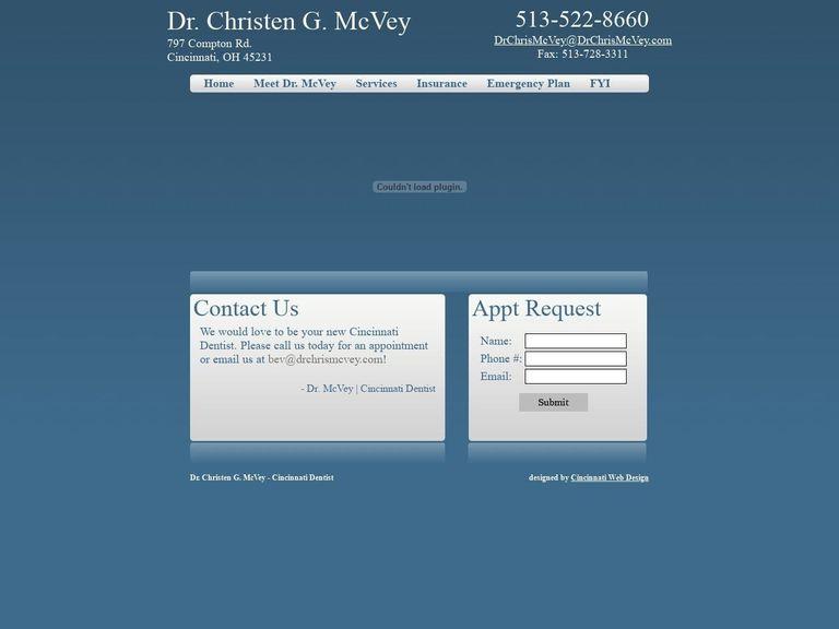 Christen G. McVey DDS Website Screenshot from drchrismcvey.com