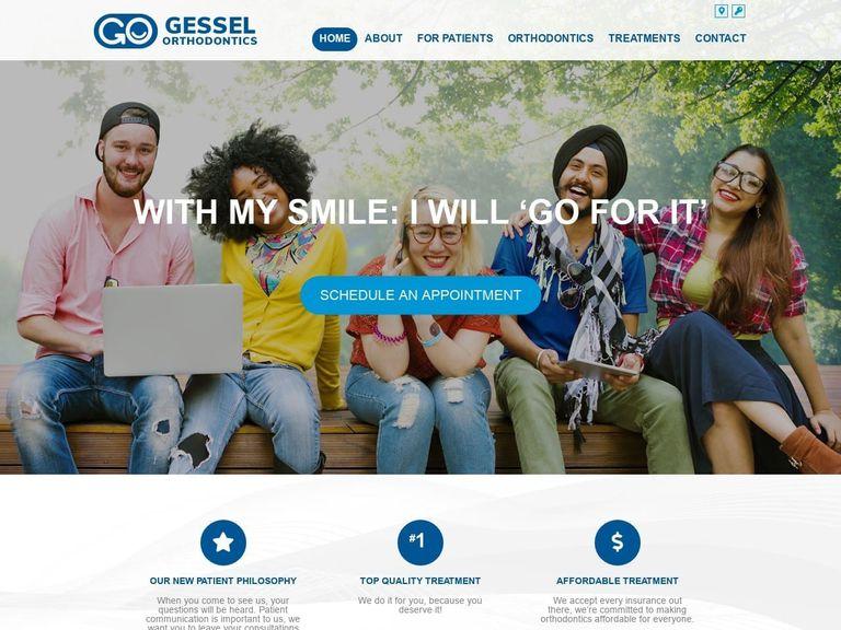 Thomas F. Gessel DMD Website Screenshot from gesselbraces.com