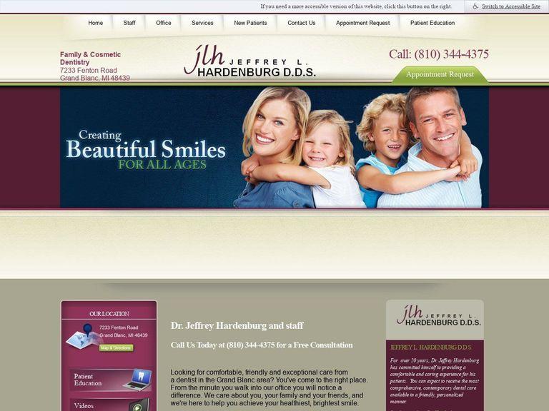 Hardenburg Jeffrey L DDS Website Screenshot from jlhdds.com