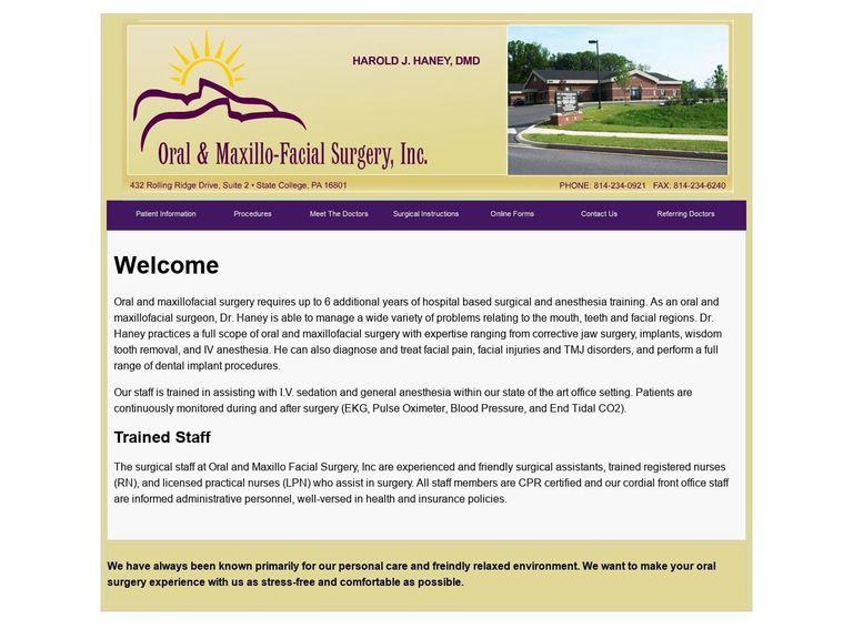 Oral & Maxillofacial Inc Website Screenshot from omfsi.com