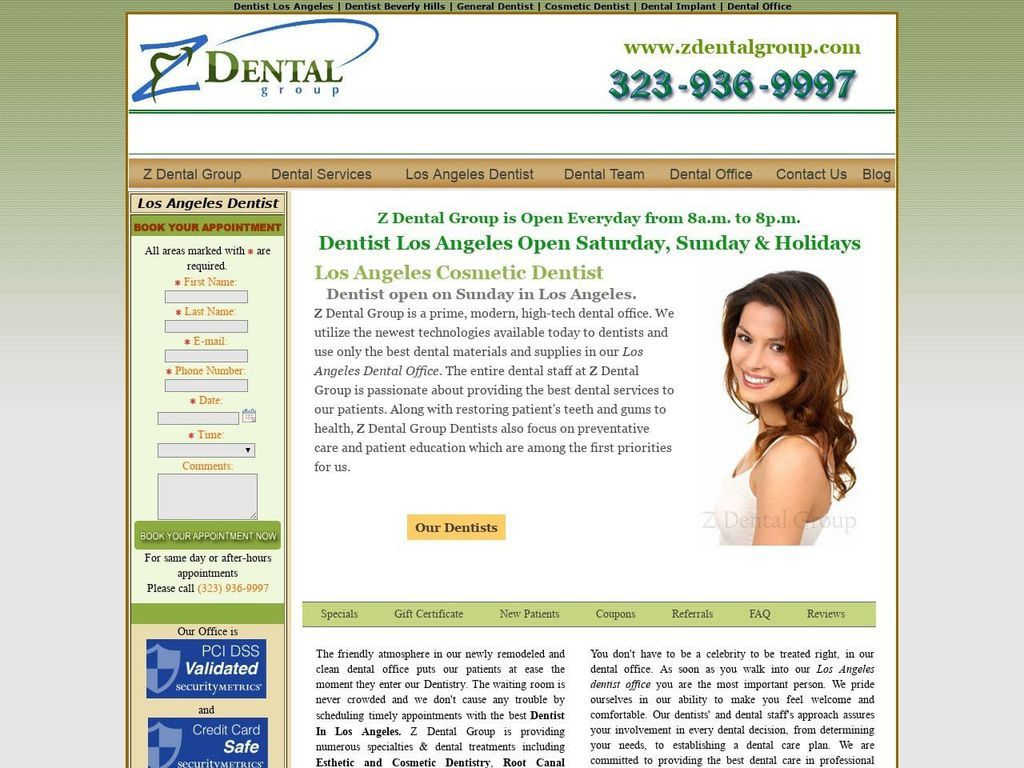 Z Dental  Group Website Screenshot from zdentalgroup.com