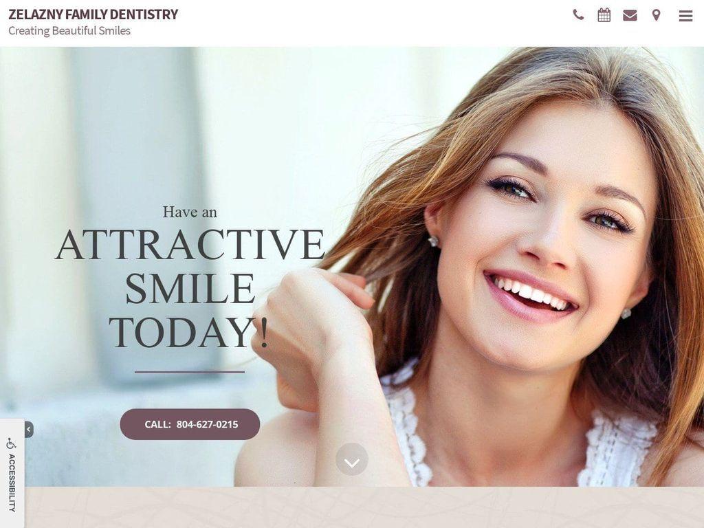 Zelazny Dentistry Website Screenshot from zelaznydentistry.com