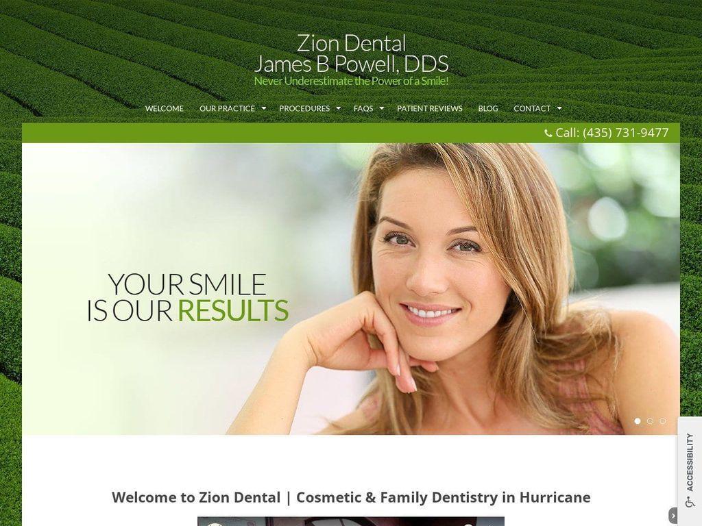 Zion Dental Ut Website Screenshot from ziondentalut.com