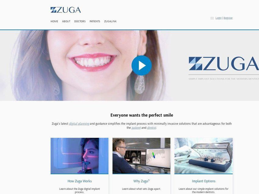 Zuga Medical Website Screenshot from zugamedical.com